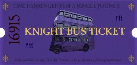 printable bus tickets knight bus ticket where do i get mine harry
