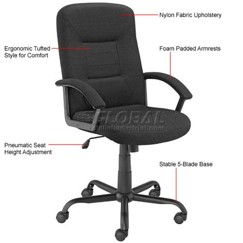 global industrial office chairs chairs fabric upholstered high back pneumatic chair
