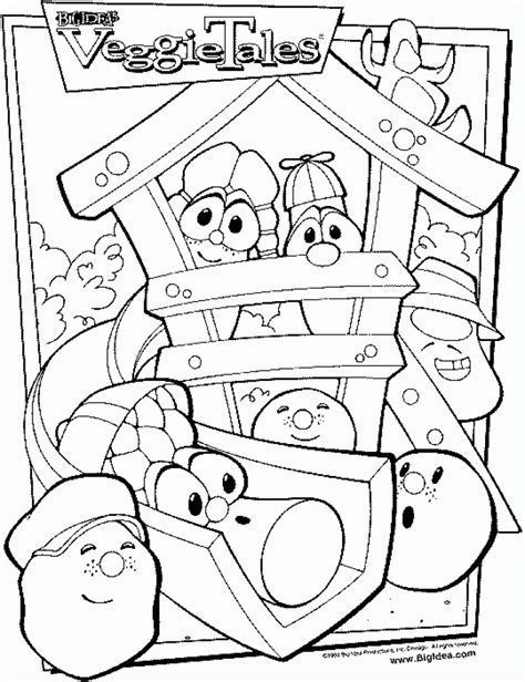 printable coloring pages veggie tales get this free veggie tales coloring pages to print 590f8