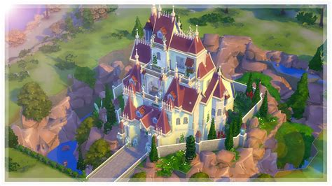 Make Your Dream House the sims 4 beauty amp the beast castle speed build collab
