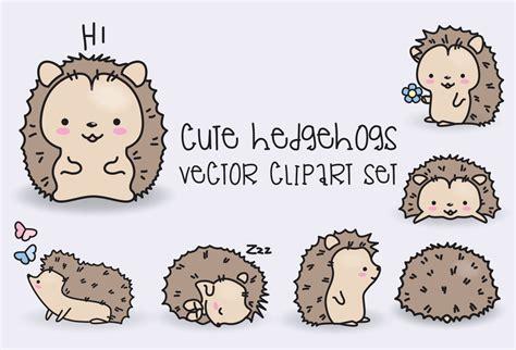 kawaii clipart premium vector clipart kawaii hedgehogs hedgehogs