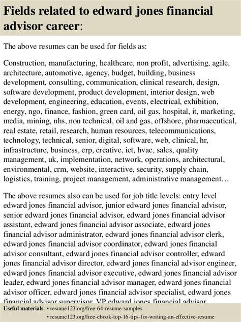 Edward Jones Financial Advisor Sle Resume by Top 8 Edward Jones Financial Advisor Resume Sles