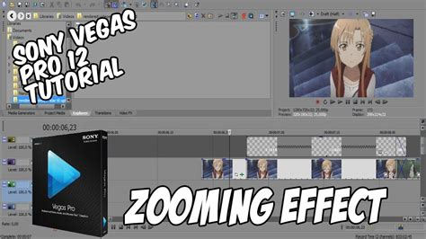 sony vegas pro manual tutorial sony vegas pro 12 tutorial zooming effect amv youtube