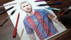 image gallery messi drawing 2016