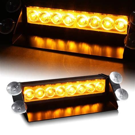 orange led light bar dash visor strobe lights ledonlineworld led light