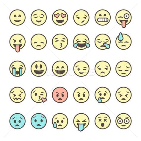 emoji vector set 183 schita 183 emoticoane 183 colorat 183 izolat 183 alb