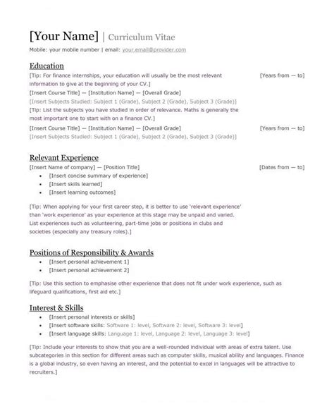 best cv format and requirements tuko co ke