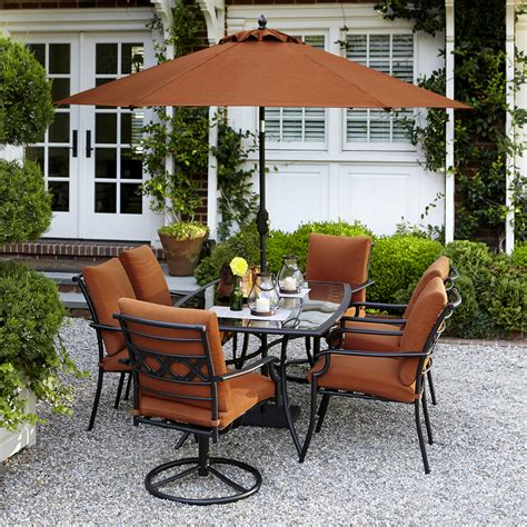 patio dining sets 7 garden oasis rockford 7 dining set in orange shop