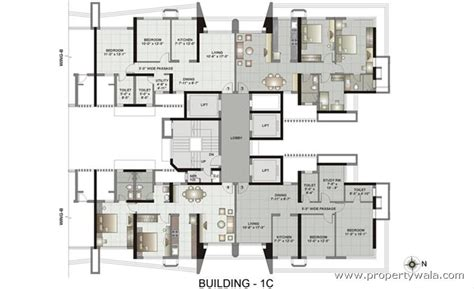 maternity hospital floor plan kalpataru gardens ii kandivali east mumbai apartment