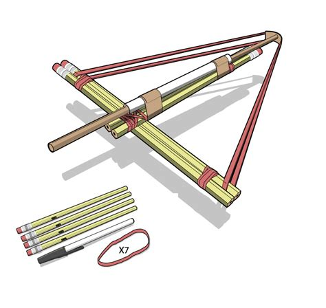 How To Make A Crossbow Paper - how to build a pencil crossbow mini weapons of mass