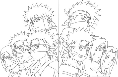 Team 7 Coloring Pages by Team 7 Shippuden Coloring Pages Coloring Pages