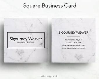 gotprint square business card template custom business card etsy