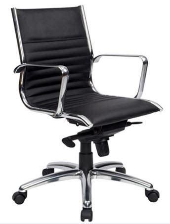 atlantic office furniture atlantic medium back chair black leather fast office furniture