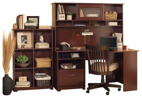 bush cabot 60 quot corner computer desk with hutch and