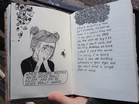 design journal tumblr drawing grunge pale quote sad tumblr image 2722610