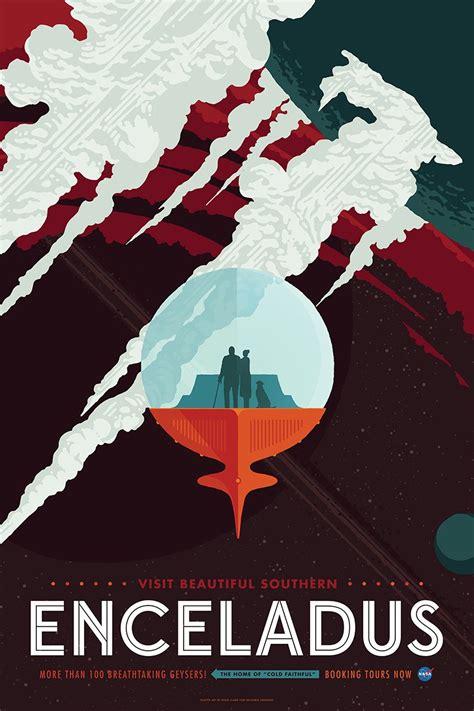 Nasa Design Poster | invisible creature promotes space tourism with retro