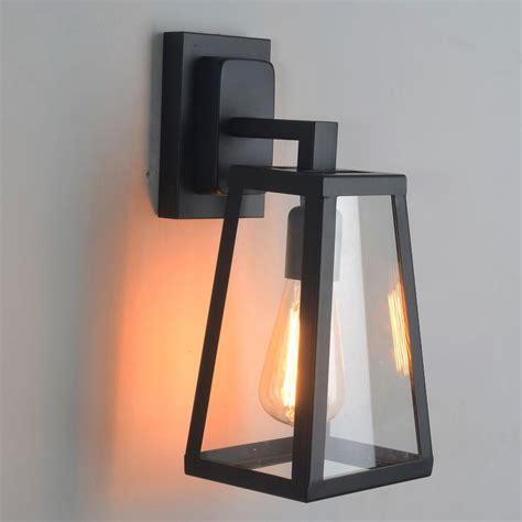 Lantern Wall Sconce Indoor antique matte black lantern indoor outdoor wall sconce lighting l sconce lighting ls