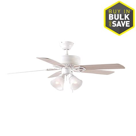 5 blade harbor breeze ceiling fan shop harbor breeze springfield ii 52 in white downrod or