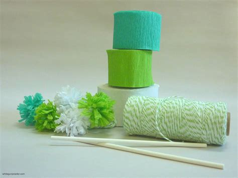 Pom Poms From Crepe Paper - pom poms made with crepe paper streamers and bakers twine