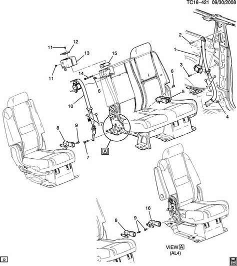 2007 chevy tahoe parts diagram 2007 2014 chevy tahoe right side rear seat belt