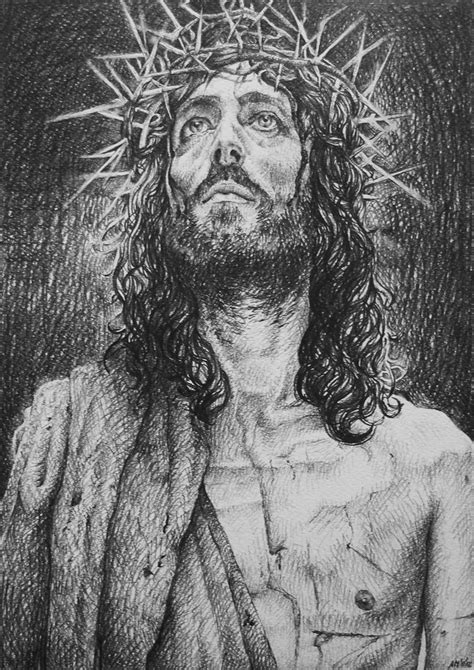 Black And White Drawings Of Jesus by Jesus Of Nazareth By Alexndramirica On Deviantart