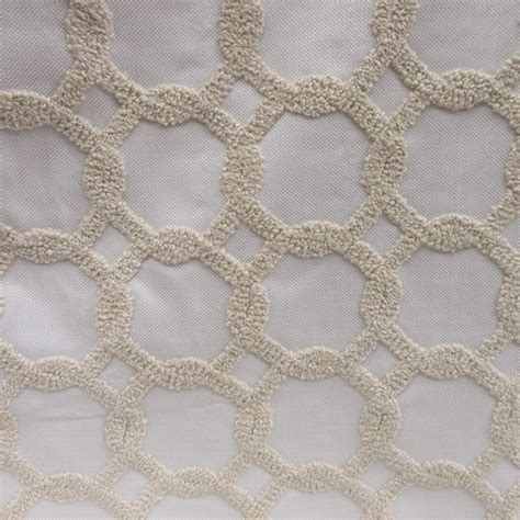 swavelle mill creek drapery fabric guy ivory geometric appliqued drapery fabric by swavelle