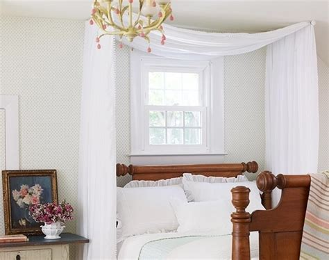 curtain rod canopy diy canopy bed curtains myideasbedroom com