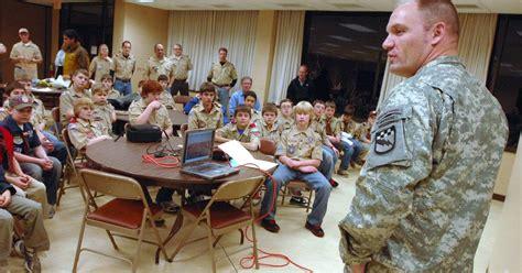 army major scott schroder meets  boy scout  pals