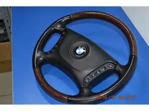 bmw e36 e38 e39 steering wheel wood leather airbag