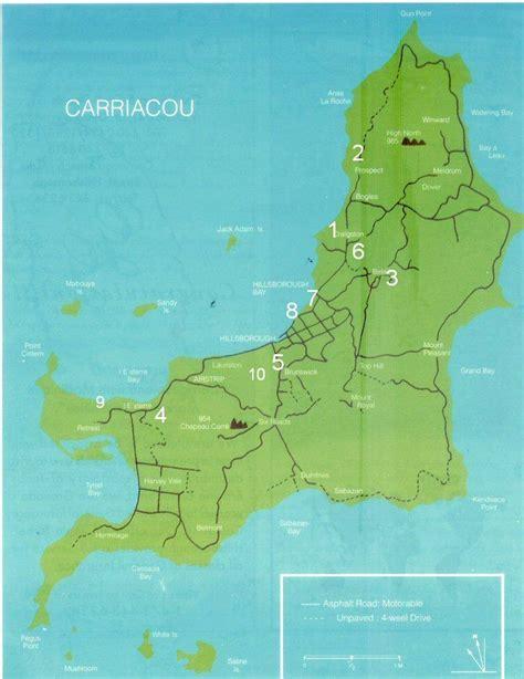 map of grenada island map of carriacou grenada