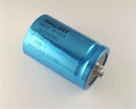 capacitor computer cg252u75k1 mallory capacitor 2 500uf 75v aluminum electrolytic large can computer grade 2020004521