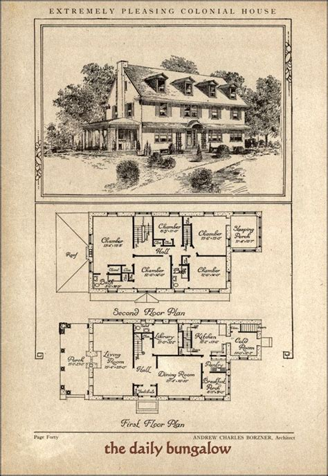 historic colonial floor plans 266 best images about vintage home plans on pinterest