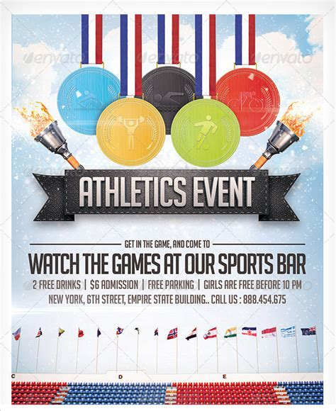 sports day poster template sports flyer template 33 free psd ai vector eps