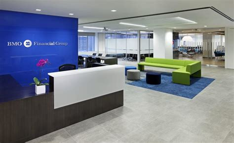 layout of real estate office renovated bmo offices promote collaboration and info