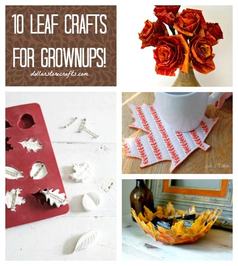 crafts for 10 and up 10 grown up leaf crafts for fall 187 dollar store crafts