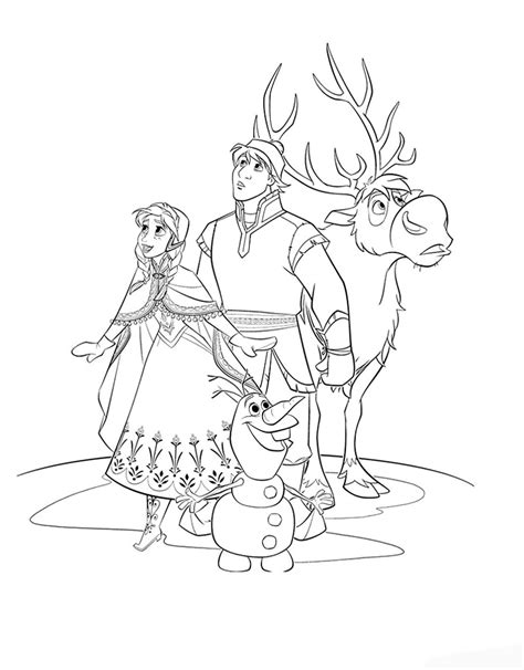 free coloring pages of frozen characters free coloring pages of frozen all characters