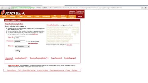 icici icici bank login indian results page board ssc upsc