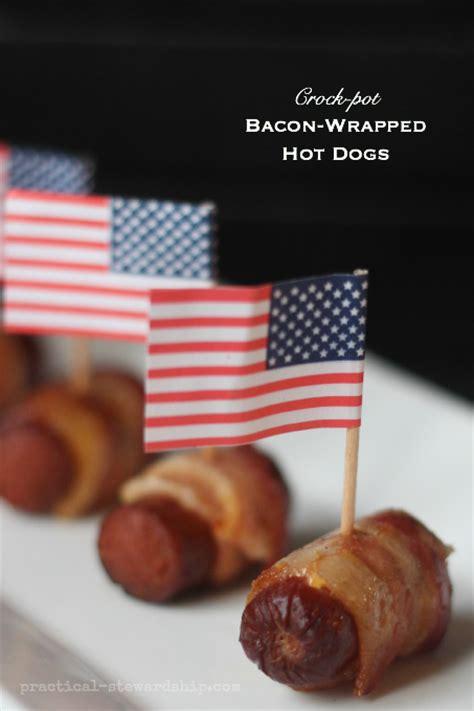 crock pot dogs crock pot bacon wrapped dogs practical stewardship