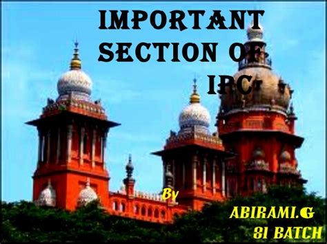important ipc sections important sections of ipc by abirami g