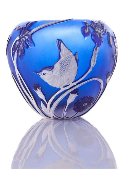 Vase With Irises by Wren Vase With Iris 169 2017 Helen Millard Cameo Glass