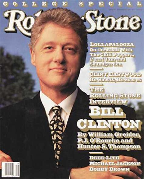 Bill Clinton And Clinton At The Rolling Stones In Concert At The Beacon Theatre by Rs639 Bill Clinton 1992 Rolling Covers Rolling