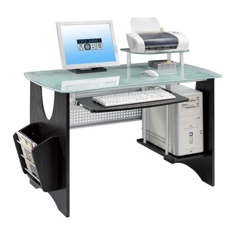 Outstanding Modern Office Desk Design With Oval Glass Work Desk For