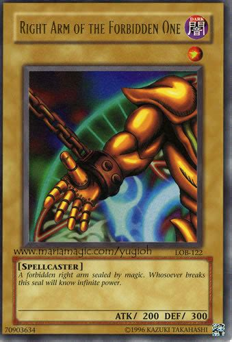printable yugioh cards printable yugioh cards right arm of the formidden one