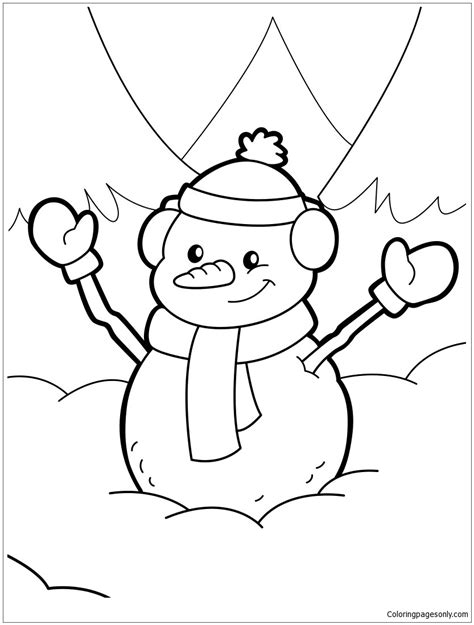 snowman coloring pages happy snowman coloring page free coloring