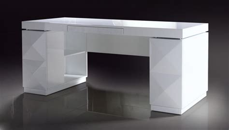 Modern Office Desk White Versus Vanity White Lacquer Modern Desk Office