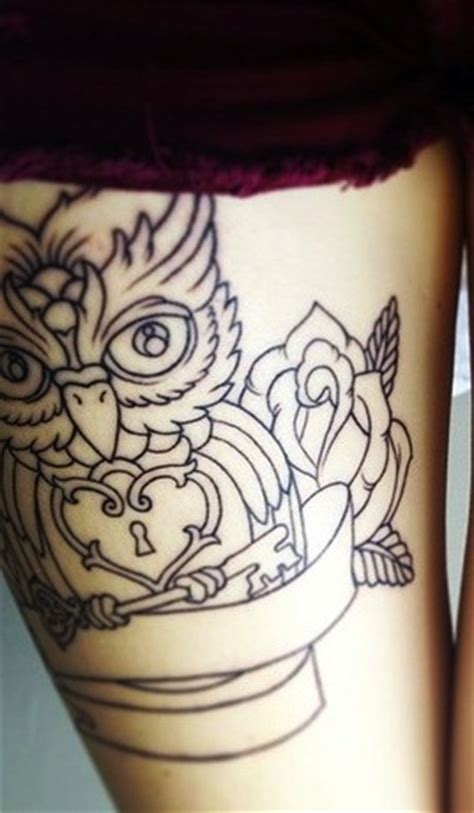 owl tattoo with lock and key meaning owl tattoo like the lock and key tattoos pinterest