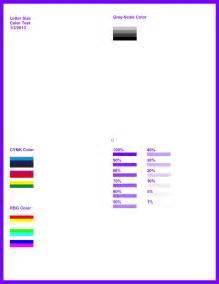 color printer test page uxfort printer color test
