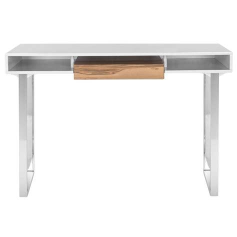 white and chrome desk safavieh metropolitan white and chrome desk fox2203a the