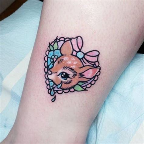 fawn tattoo fawn on the ankle artist carla