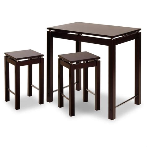 winsome 174 linea kitchen island table with 2 stools 151429